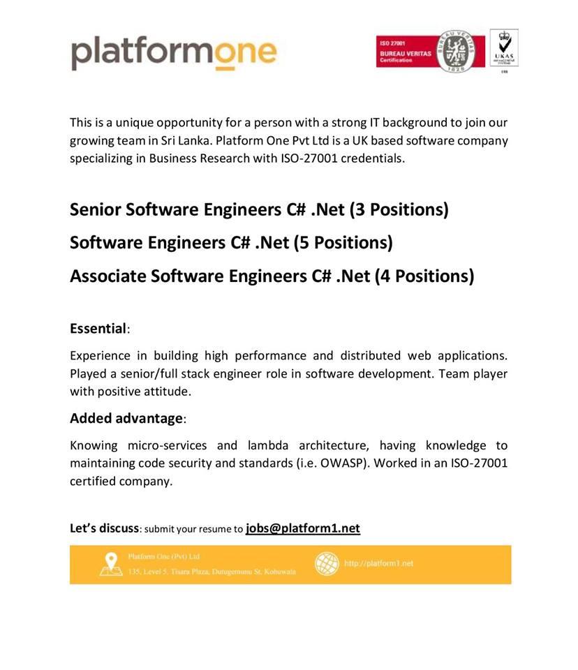 Senior/Associate software engineer 2
